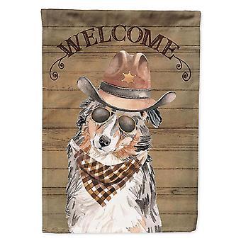 Flags windsocks australian shepherd country dog flag canvas house size