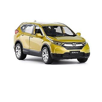 Toy cars 1:32 honda crv car model alloy car die cast toy car model sound and light toy collectibles yellow