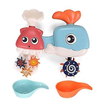 Bath toys bath toys for toddler with waterfall station bath squirters wind up bath toy and bath cups christmas gifts for