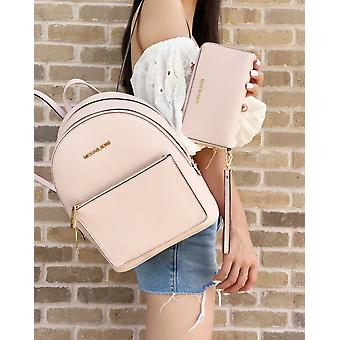 Michael kors adina kenly backpack powder blush pink pebbled leather + wristlet