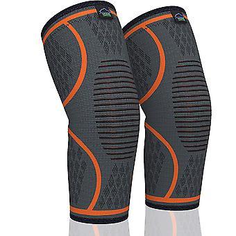 2 Pack Genouillère Soutien du genou pour la course de genoux de qualité médicale