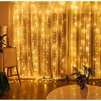 Twinkle Star 300 Led Window Curtain String Light Party Garden Decorations