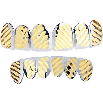 Silver Grillz - one size fits all - Diamond cut IV - SET