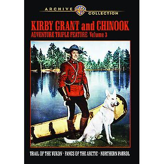 Kirby Grant & Chinook Adventure Triple Feature: V3 [DVD] USA import