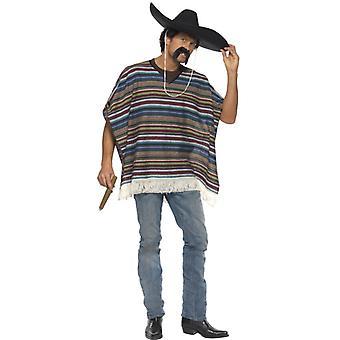 Texans Gringo meksykański Ponczo strój dla mężczyzn