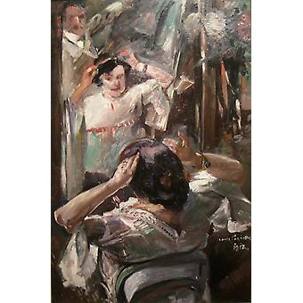 Lovis Corinth - At the Mirror Poster Print Giclee