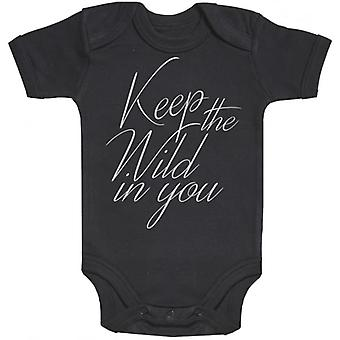 Spoilt Rotten Keep The Wild In You Short Sleeve Baby Bodysuit
