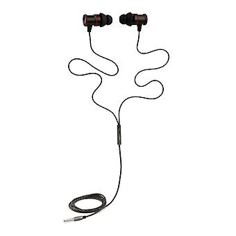 REYTID In-Ear Earphones Headphones - HD Sound - DEEP Bass with Metal 1-button Mic - Compatible with iPhone and Android - Black