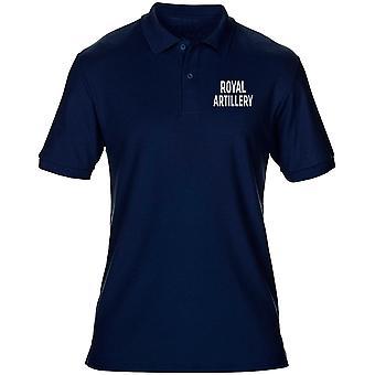 Royal tykistöön RA teksti brodeerattu Logo - Britannian armeijan Miesten poolopaita