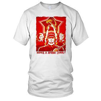 Sovjetiske CCCP russiske kommunistiske plakat Mens T-skjorte