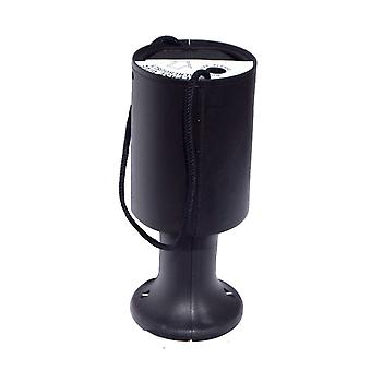 Round Charity Money Collection Box - Black