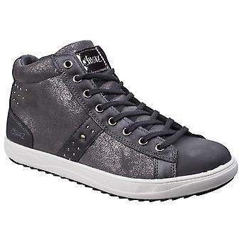 Divaz Womens Steffy Metallic Sneaker Boot Grey