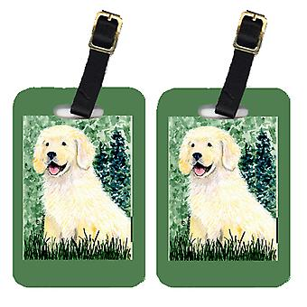 Carolines Treasures  SS8739BT Pair of 2 Golden Retriever Luggage Tags