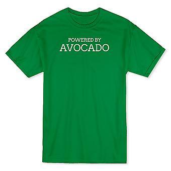 """Powered By Avocado"" Cute Vegan Quote Men's T-shirt"