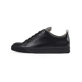 Lanvin Lanvin Black Reflective Panel Leather Sneaker