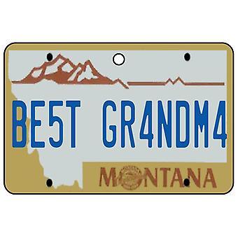 Montana - Best Grandma License Plate Car Air Freshener