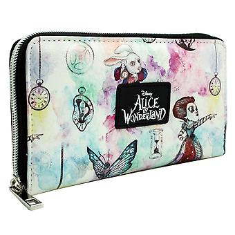 Alice In Wonderland Through the Looking Glass Coin & Card Clutch Purse