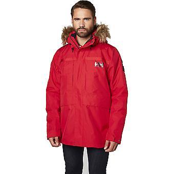 ヘリー ・ ハンセン メンズ沿岸 2 防水偽ものの毛皮トリム パーカー コート ジャケット