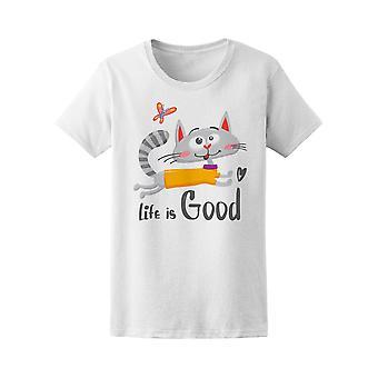 Life Is Good Cat Doodle Tee femmes-Image de Shutterstock