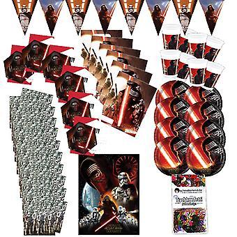 Fest boksen Star Wars 51-teilig dekorasjon styrken våkner party pakken