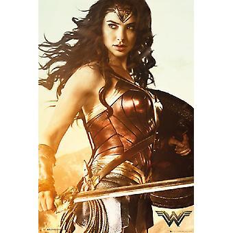 Wonder Woman - Schwert-Plakat-Druck