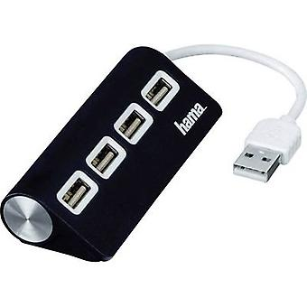 Hub di Hama 4 porte USB 2.0 nero