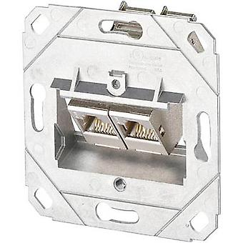 Network outlet Flush mount Insert CAT 6A 2 ports Metz Connect