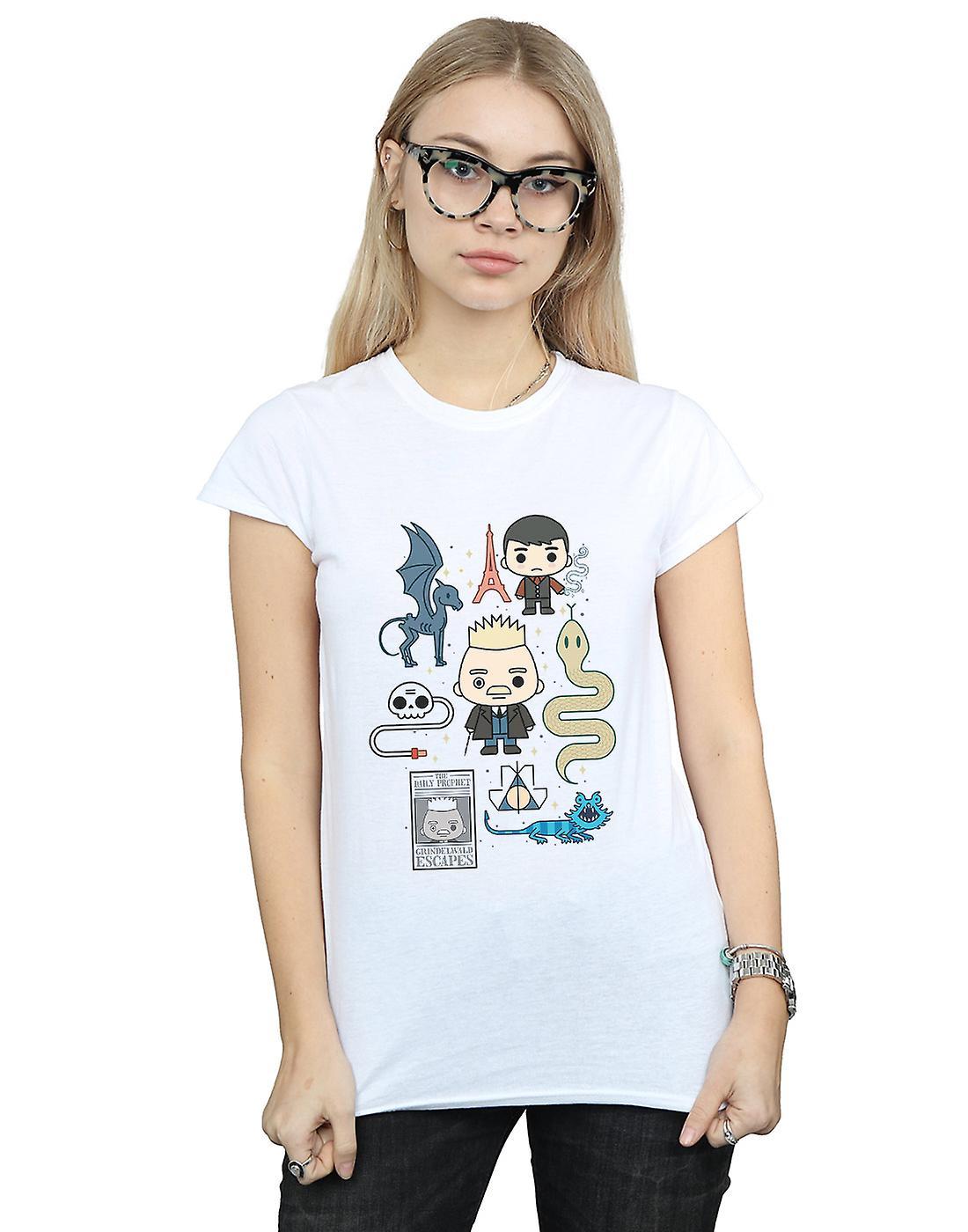 Fantastic Beasts Women's Chibi Grindelwald T-Shirt
