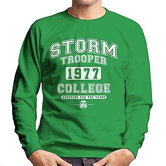 Camisola do original Stormtrooper Varsity 1977 faculdade homens