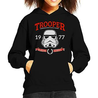 Original Stormtrooper Blaster School Kid's Hooded Sweatshirt