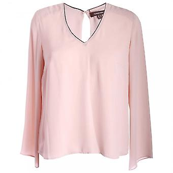 Marie Mero Pink Cadillac Long Sleeve Blouse