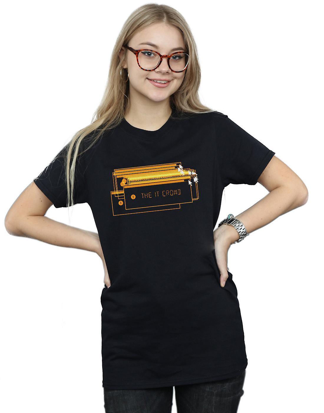 The IT Crowd Women's Error Screens Boyfriend Fit T-Shirt