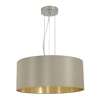 Eglo MASERLO Modern Taupe And Gold Inner Shade Ceiling Pendant
