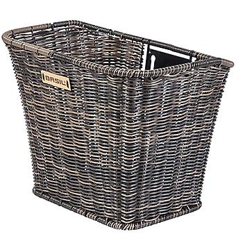 Basil Bremen front bicycle basket (rattan look) / / fixed installation