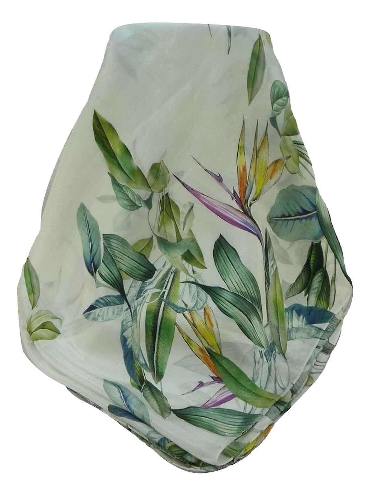 Supersized Handloom Saurshatra Silk Scarf or Stole Bird of Paradise Pattern by Pashmina & Silk