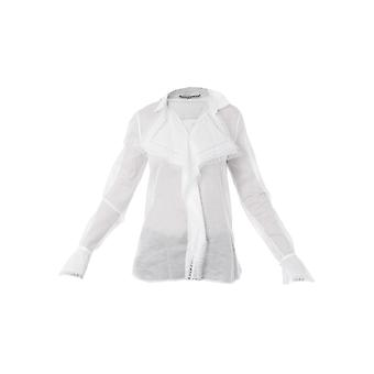 Ermanno Scervino D342k309mul10601 Women's White Cotton Shirt