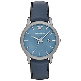 Emporio Armani EA7 Men's Classic Leather And Silicone Strap Watch - AR1972