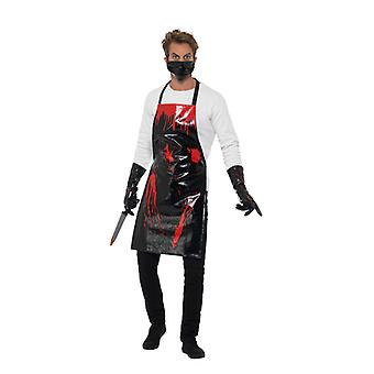 Surgeon apron bloodied butcher butcher Halloween horror costume