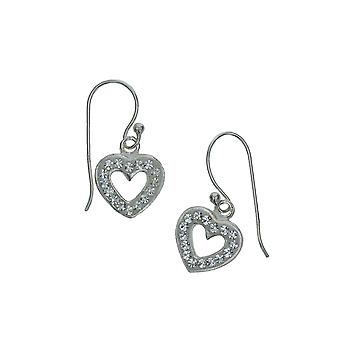 Die Olivia Collection Sterling Silber Crystal Open Heart Ohrringe