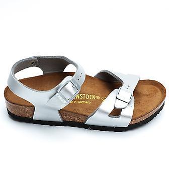 Birkenstock Rio Girl's Sandal, Silver