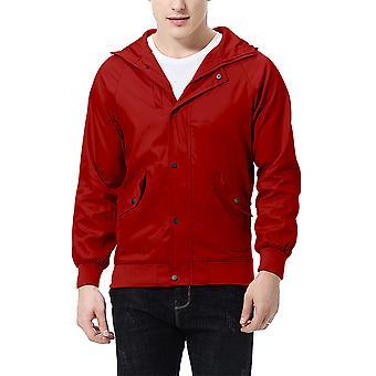Allthemen Men's Jacket Zipper Hooded Big Pocket Casual Jacket