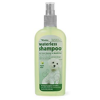 Petkin sans eau chien shampooing 250Ml nettoyant & désodorisant pomme menthe