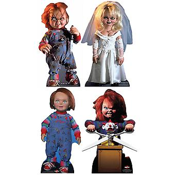 Chucky Collection Official Cardboard Cutout / Standee Set of 4
