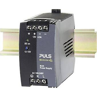 PULS MiniLine ML60.121 Rail mounted PSU (DIN) 12 V DC 4.5 A 54 W 1 x