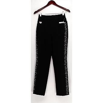 Quacker Factory Women's Petite Pants XXSP Dream Jeannes Black A270895