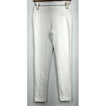 Kate & Mallory Leggings Basic Stretch Waist Band White Womens A431583