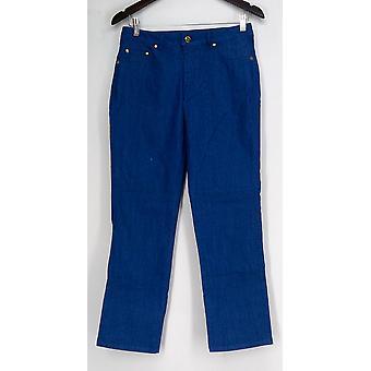 IMAN Jeans Light Weight Denim Full Length Blue Womens 320-034