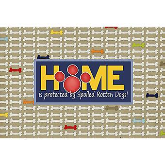 Home is protected by spoiled rotten dogs Fabric Placemat