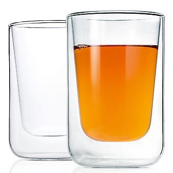 Thermo glazen cappuccino glazen thee glazen 2-delige set