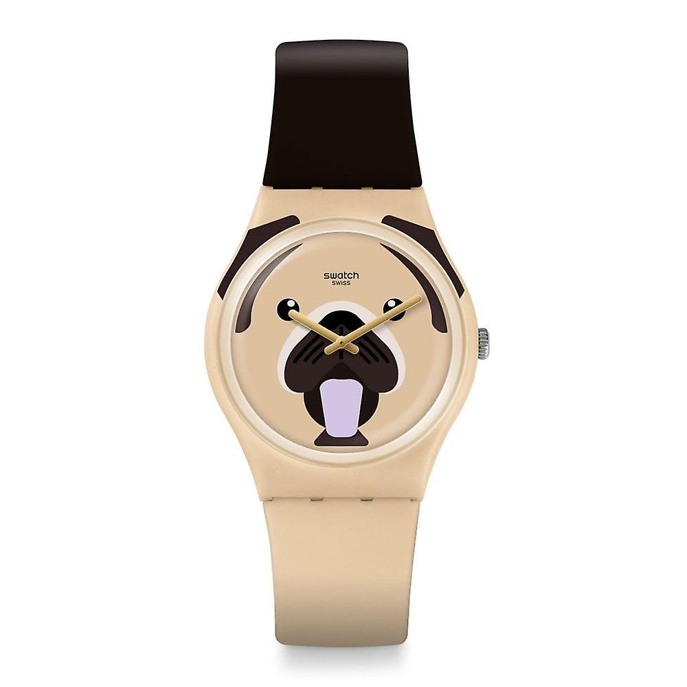 Swatch Gt109 Carlito Brown & Beige Silicone Watch